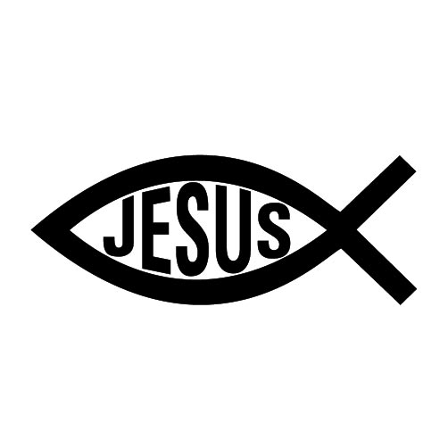 Free the jesus fish symbol coloring pages for Christian fish sign