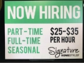 Now Hiring yard sign