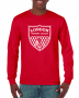 Red Cotton Long Sleeve Tee